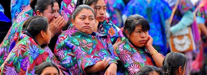 Mujeres indígenas con mayores tasas de fecundidad.  Foto: Alma Citl/Chiapas PARALELO