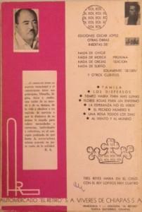 Contraportada del libro Ojalá te mueras, de Arles, editado por Óscar López. Foto:ChP