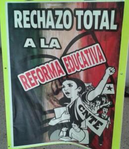"""""""La reforma educativa siento que es una especie de revancha y represión que generará más corrupción y control del sistema""""."""