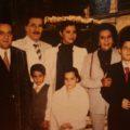 La familia Sabines Guerrero y la imagen sobrepuesta de Sabines Gutiérrez. Foto: Fundación y Museo Juan Sabines Gutiérrez, AC