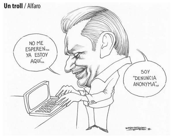 Anonymous visto por Alfaro