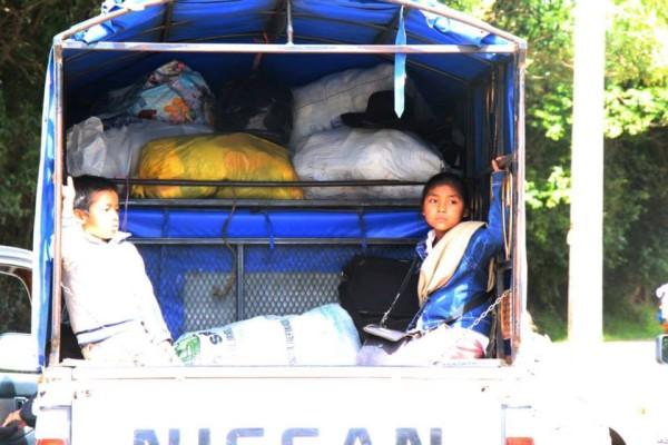98 personas desplzadas del Ejido Puebla permanecen refugiadas en Acteal, desde agosto pasado. Foto: Koman Ilel