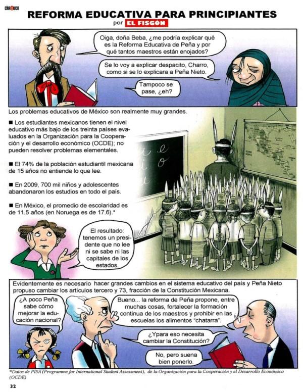 Reforma Educativa explicada con dibujos.