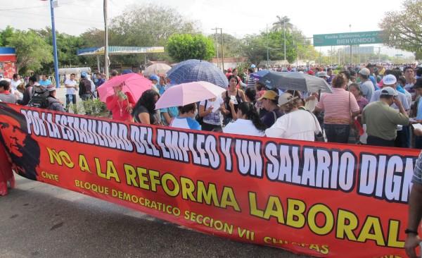 La Reforma Educativa vulnera los derechos de  laborales, sostienen maestros. Foto: Isaín Mandujano/Chiapas PARALELO