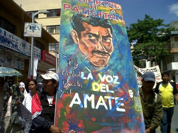 El maestro indígena Alberto Patistán ha logrado sumar a la causa de su liberación a miles de ciudadanos. Foto: Sandra de los Santos/Chiapas PARALELO