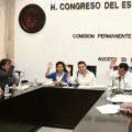 Diputados durante la sesión de la Comisión permanente. Foto: Congreso Chiapas.