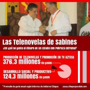 Gastos de Sabines con empresas Azteca