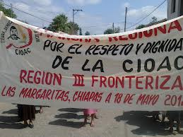 Dirigentes de la CIOAC se disputan la militancia de indígenas de Las Margaritas. Foto: Fredy Martín Pérez