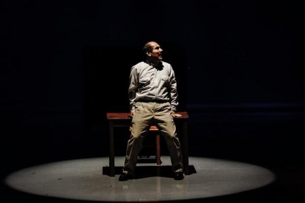 Huerta, personificado por el escritor Héctor Cortés Mandujano. Fotografía de Ariel Silva.
