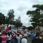 Aspectos de la movilización de hoy.Foto: Chiapas Paralelo