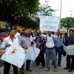 """No a la reforma energética"" pidieron los manifestantes. Foto: Chiapas Paralelo"