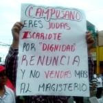Las y los maestros condenaron a la dirigencia del SNTE. Foto: Chiapas Paralelo