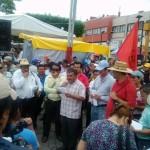 El mitín lo realizaron sobre la avenida central de Tuxtla Gutiérrez. Foto: Chiapas Paralelo