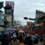 En domingo los maestros salieron a manifestarse en contra de la reforma educativa. Foto: Chiapas Paralelo