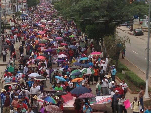 Se ha incrementado a cantidad de maestros que participan en Chiapas contra la Reforma Educativa. Foto: Sarelly Martínez/Chiapas PARALELO