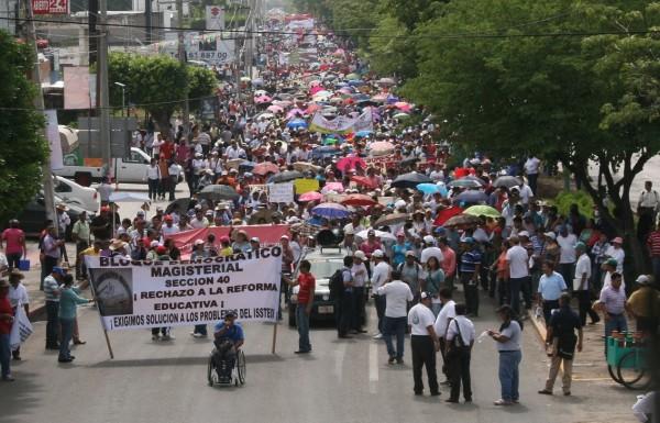Maestros crean el Frente Único de Lucha. Foto: Archivo/Chiapas PARALELO