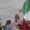 López Obrador se pronuncia por Chiapas durante el Grito de Independencia. Foto: Cortesía