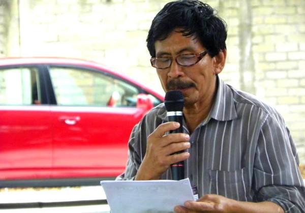 Leandro García López, líder del FOSICH en Motozintla, detenido y desaparecido por protestar contra el alcalde Osca Galindo.