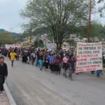 Marcha en San Cristóbal contra las Reformas a la educación y energética. Foto: Carlos Herrera
