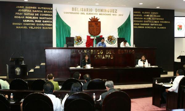 Solo 33 de 41 diputados asistieron a la sesión extraordinaria de ayer. Foto: Congreso del Estado/Chiapas PARALELO.