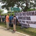 Maestros de Chiapas durante acciones de protesta. Foto: Chiapas PARALELO