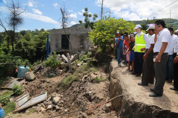 Afectaciones en la Colonia 6 de Junio de Tuxtla Gutiérrez, Chiapas. Foto: Icoso