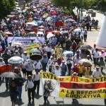 Miles de maestros marchan y se manifiestan en Chiapas y todo el país. Foto: Isaín Mandujano/Chiapas PARALELO