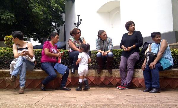 Mujeres policías de San Cristóbal de Las Casas, denuncian malos tratos de un mando operativo. Foto: Isaín Mandujano/Chiapas PARALELO