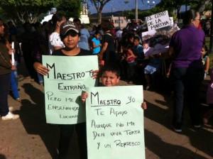 Marcha en el municipio de Ocozocuautla. Foto: Cortesía Chiapas Paralelo
