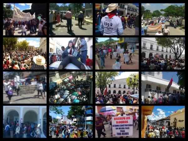 Acciones de movilización y protesta en Chiapas. Fotocomposición: Chiapas PARALELO