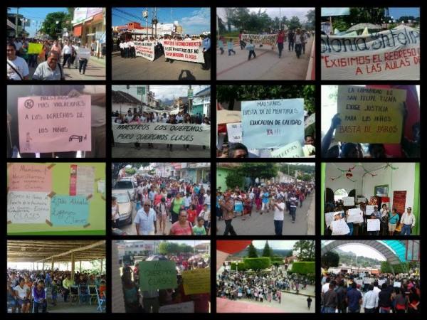 Según el gobierno de Chiapas, marchan 500 mil por el fin fel paro de labores magisterial y por el regreso a clases.