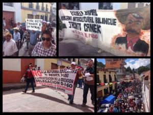 Marcha en San Cristóbal de Las Casas. Foto: @FerMG33_/Chiapas PARALELO