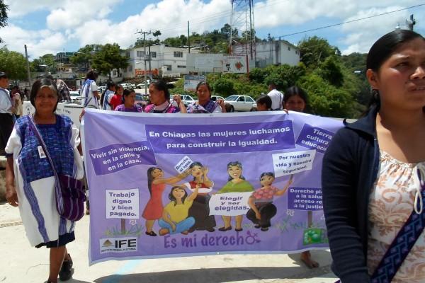 En las comunidades indígenas, las mujeres si están interesadas en participar en las contiendas para ocupar cargos de elección popular y participar en la toma de decisiones. Foto: Cortesía/Chiapas PARALELO