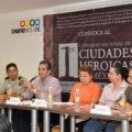 En conferencia de prensa, el director de Coneculta, Juan Carlos Cal y Mayor anunció el Congreso Nacional de Ciudades Heroicas. Foto: Cortesía/ Chiapas PARALELO.