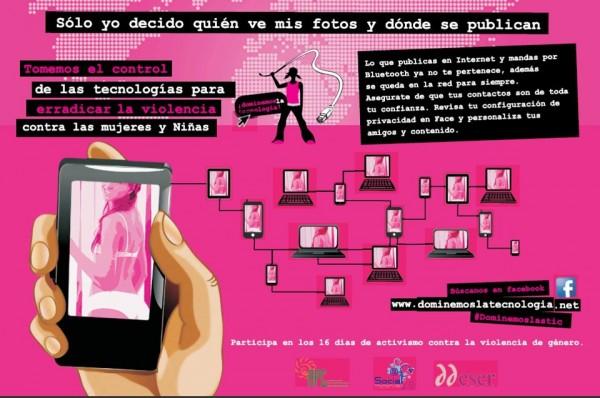 """El texto sobre """"Contraseñas"""" es parte de la campaña """"Dominemos la tecnología que en México la implementa APC y Ddsser para empoderar a las mujeres en el uso de los recursos tecnológicos."""