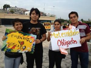 La Red por los Derechos Sexuales y Reproductivos ha realizado campañas entre las y los jóvenes sobre el derecho a  decidir. Foto: cortesía/ Chiapas PARALELO.