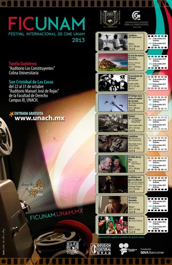 Cartelera Muestra Internacional de Cine UNAM