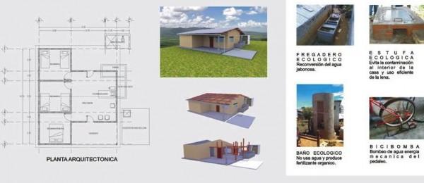 Casa sustentable para comunidades indígenas marginadas.