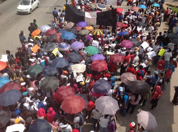Manifestación de maestros. Foto: Chiapas PARALELO