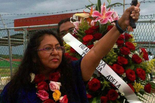 Adela Gómez alcanzó su libertad la tarde del viernes 18 de octubre. Foto: Cortesía
