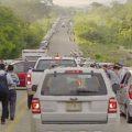 Para llegar al aeropuerto usuarios deben pasar tres retenes. Foto: Isaín Mandujano/Chiapas PARALELO