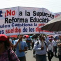 Marcha de maestros. Foto: Ángeles Mariscal/Chiapas PARALELO