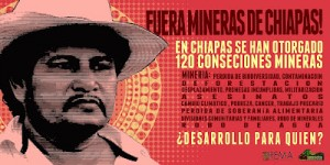 En Chiapas se ha conformado un movimiento contra la minería.