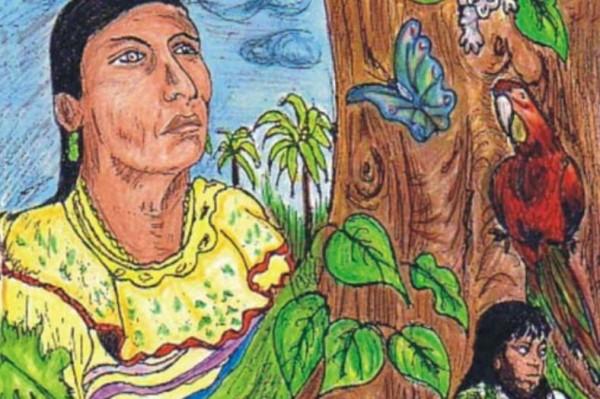 """Imagen del informe """"Breve historia de la llamada Comunidad Lacandona"""", de la organización Maderas del Pueblo del Sureste."""