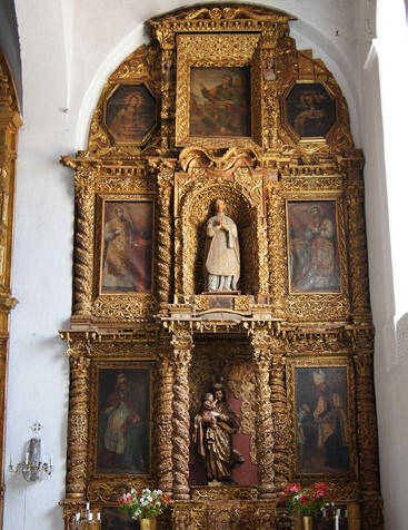 Retablo de la Catedral de San Cristóbal de las Casas. Foto: Amalia Avendaño