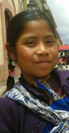 Rosa Cristina es originaria del paraje Tzajaltetic de San Juan Chamula. Foto Cortesía
