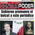 """Coartan derecho a circular de diario Contrapoder en Chiapas. """"Saca notas muy fuerte contra el gobierno"""", dicen voceadores y ya """"recibieron línea""""."""