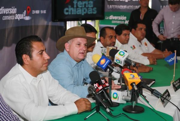 Manuel Francisco Pariente Gavito en su presentación como presidente del Patronato de la Feria Chiapas el pasado miércoles 6 de noviembre. Foto: Archivo/Chiapas PARALELO