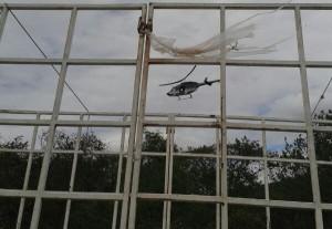 Una aeronave de la Secretaría de Seguridad y Protección Ciudadana (SSyPC) sobrevolaba la zona a la hora del enfrentamiento. Foto: Cortesía