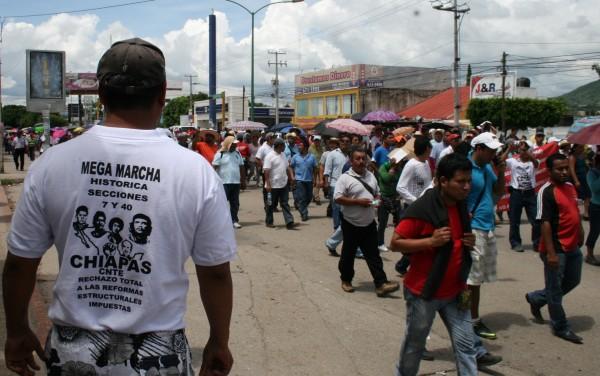 Al menos seis maestros de la Costa están siendo perseguidos y acosados judicialmente por la PGJE de Chiapas.  Foto: Isaín Mandujano/Chiapas PARALELO